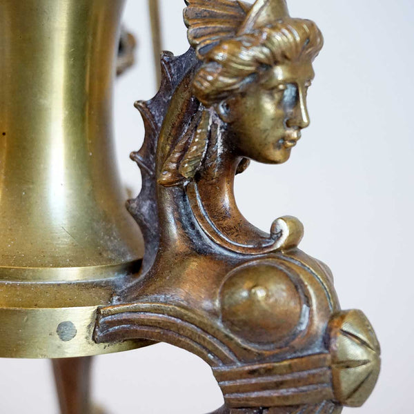 French Etruscan Revival Gilt Bronze Table Lamp