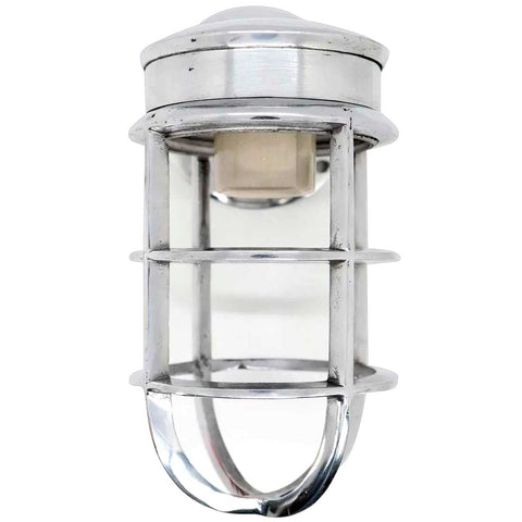 Vintage Style Industrial Aluminum Cage Bracket Wall Sconce Ship's Light Fixture