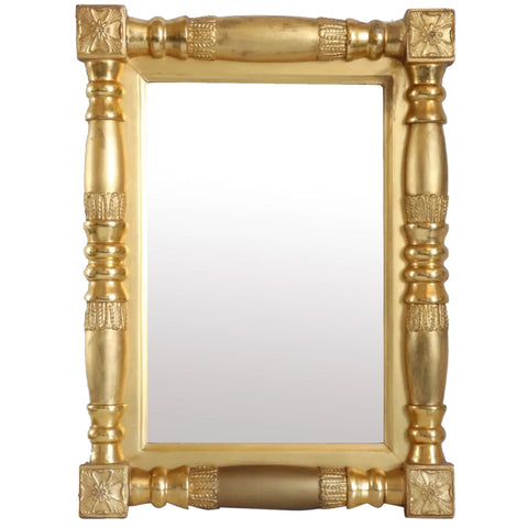 Small American Empire Classical Giltwood Wall Mirror