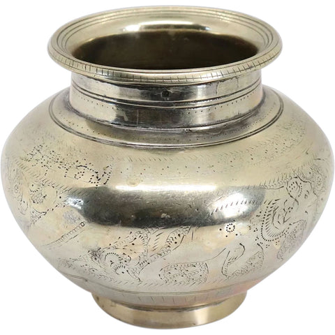 Indian Chased Brass Lota Water Pot