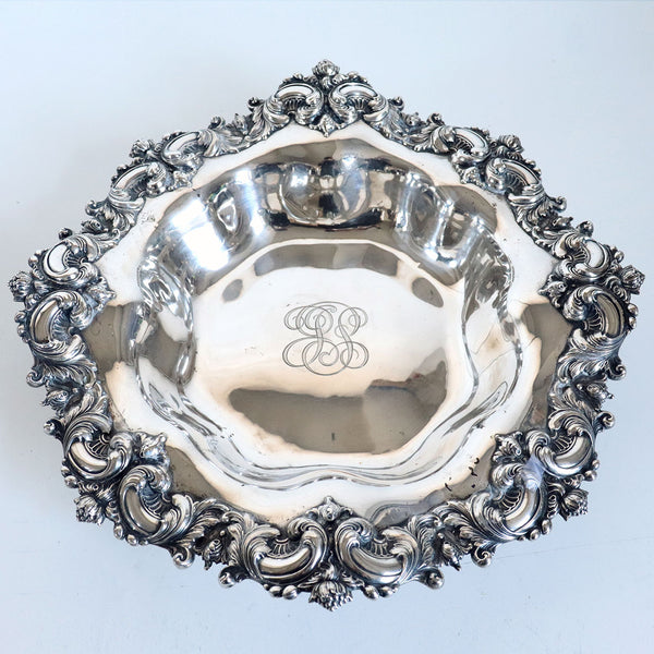 Large American Frank W. Smith for J. E. Caldwell Sterling Silver Repousse Bowl