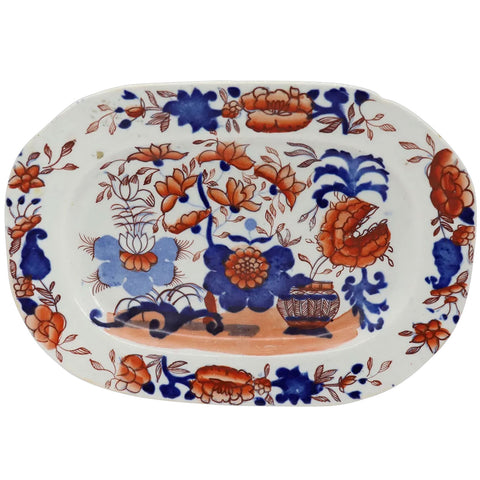 Small English Mason's Ironstone China Imari Palette Platter