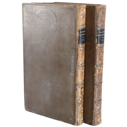 Two Leather Book Volumes: Cardiphonia by Reverend John Newton
