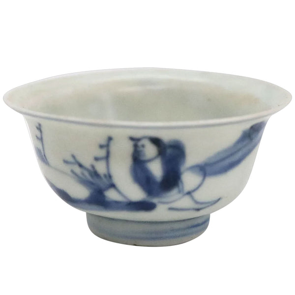 Chinese Transitional Blue and White Porcelain Hatcher Cargo Shipwreck Wine Cup