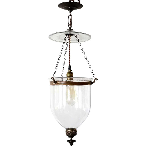 English Regency Style Glass One-Light Hall Lantern
