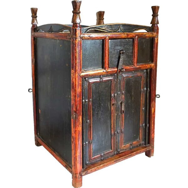 Chinese Qing Lacquered Side Cabinet
