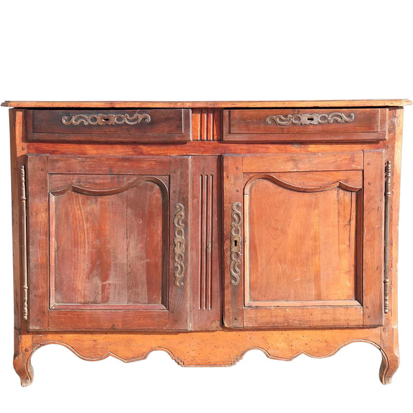 French Provincial Louis XV Cherry Sideboard Buffet