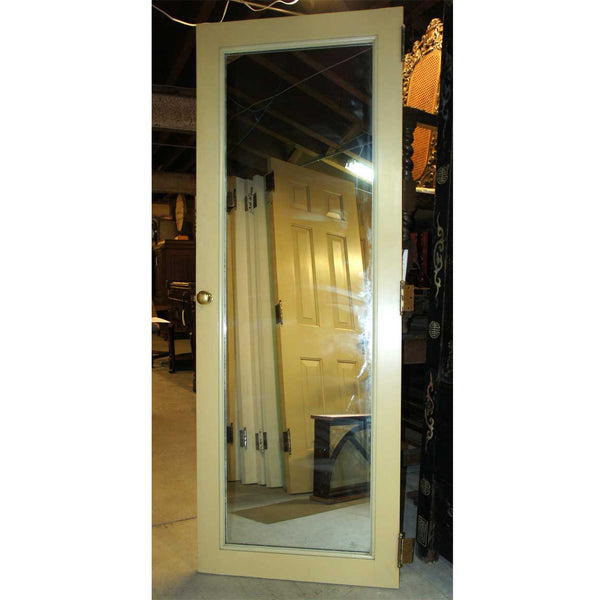 Vintage American Painted Pine/Poplar Mirrored Belcaro Mansion Single Closet Door