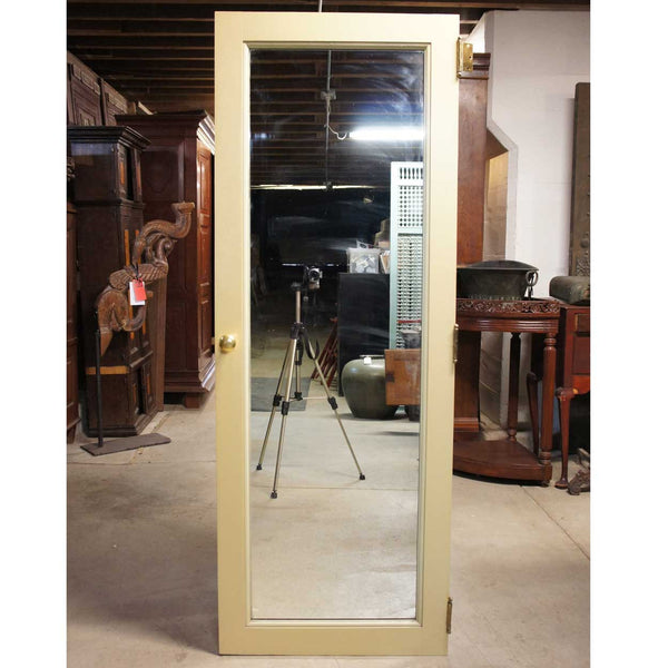 Vintage American Painted and Mirrored Pine/Poplar Belcaro Mansion Single Door