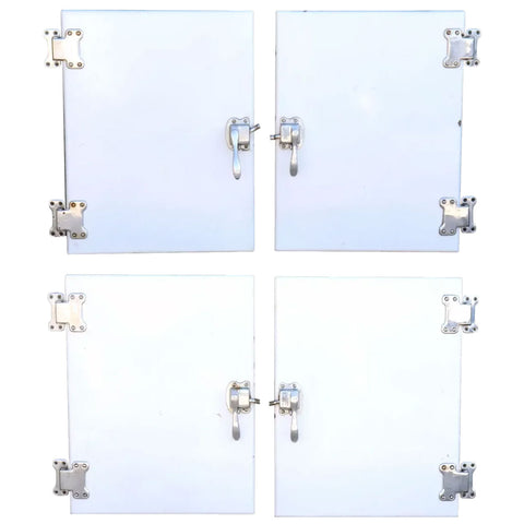 Set of Four American General Electric Built-In Ice Box Refrigerator Doors