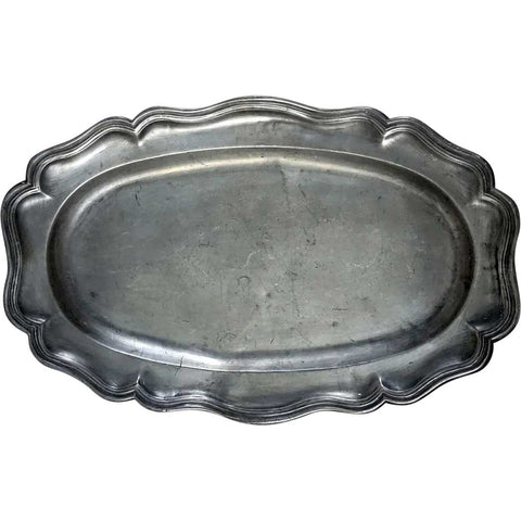 French Pewter Oval Fish Platter
