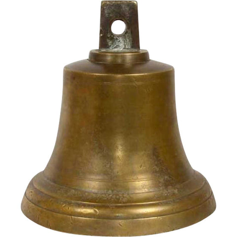 Small French Solid Bronze Chateau Bell
