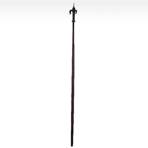 Baroque Forged Iron Post with Fleur-de-lys Finial
