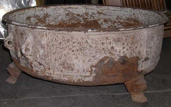 Early Large Chinese Iron Pot