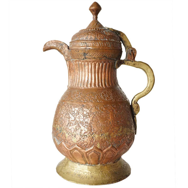 Indian Copper and Brass Coffee Pot