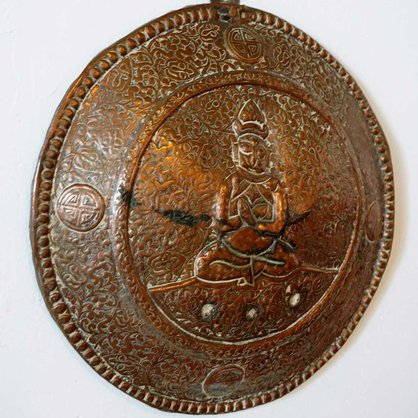 Tibetan Copper Buddha Plaque