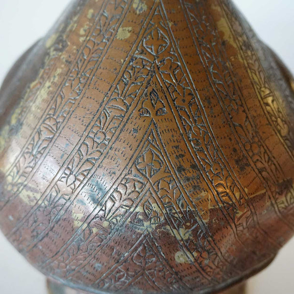 Tibetan Copper Chased Ewer