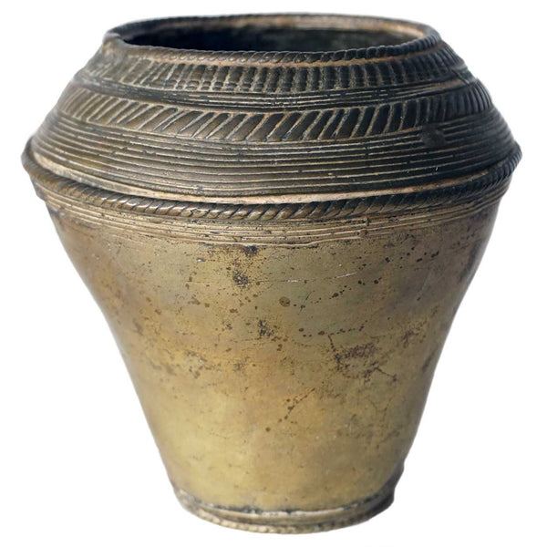 Small Indian Mughal Bronze Vase