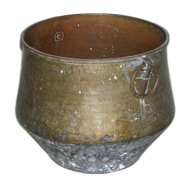 Medium Indian Brass Water Storage Vessel