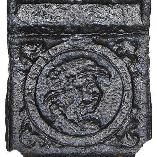 Swedish Cast Iron Stove Plate with Religious Scenes