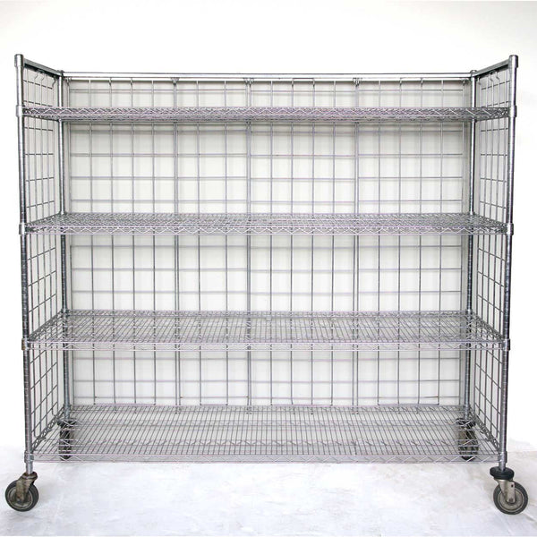 American Metro Industrial Wire Open Shelf on Wheels