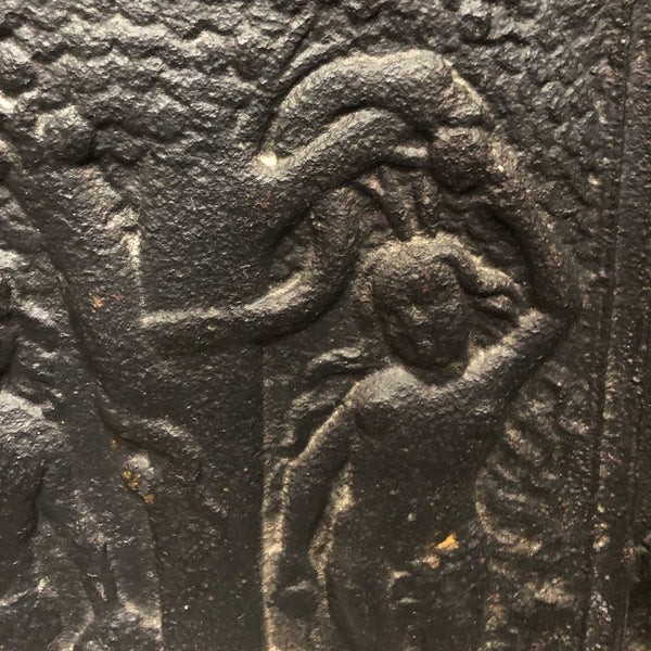 Swedish Cast Iron Adam and Eve Stove Plate