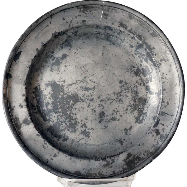 English Francis Piggott Georgian Pewter Plate