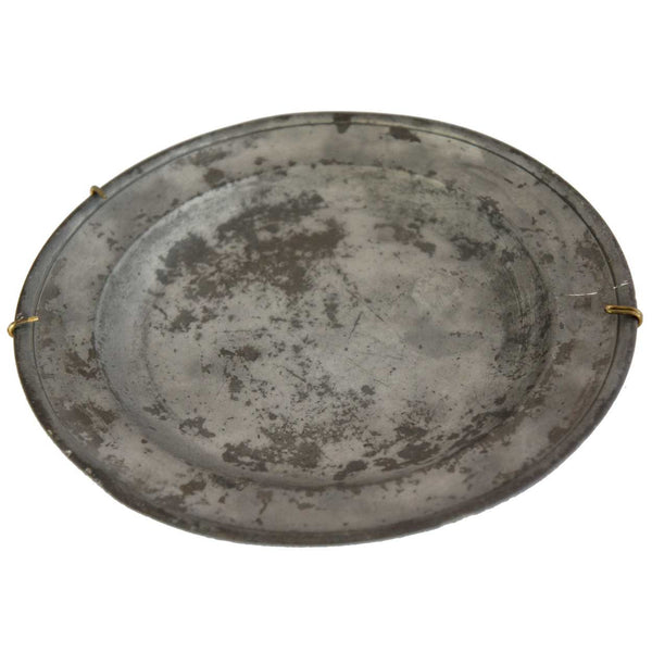 English Francis Piggott Pewter Plate