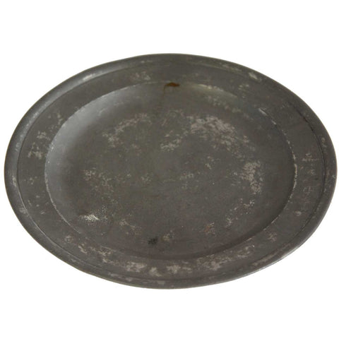 English Samuel Ellis Pewter Plate