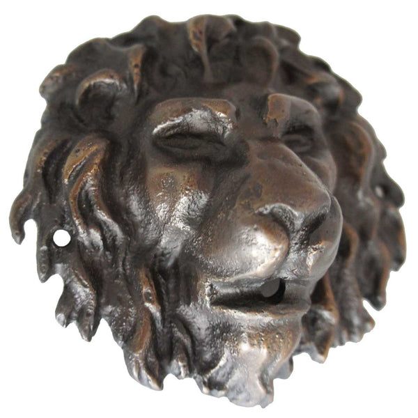Small American Bronze Lion Head Fountainhead (3 available)