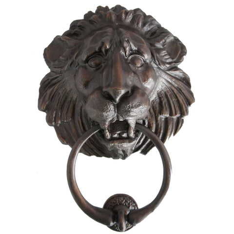 Large American Cast Bronze Lion Head Door Knocker [6 available]