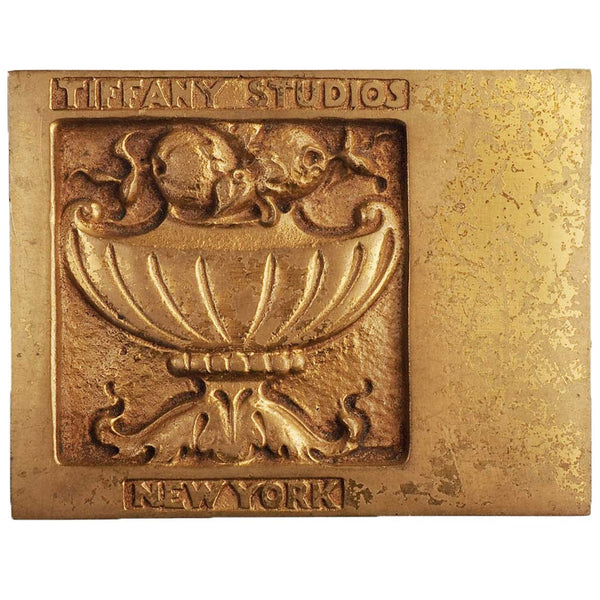 Small American Tiffany Studios Bronze Dore Patina Sample Plaque