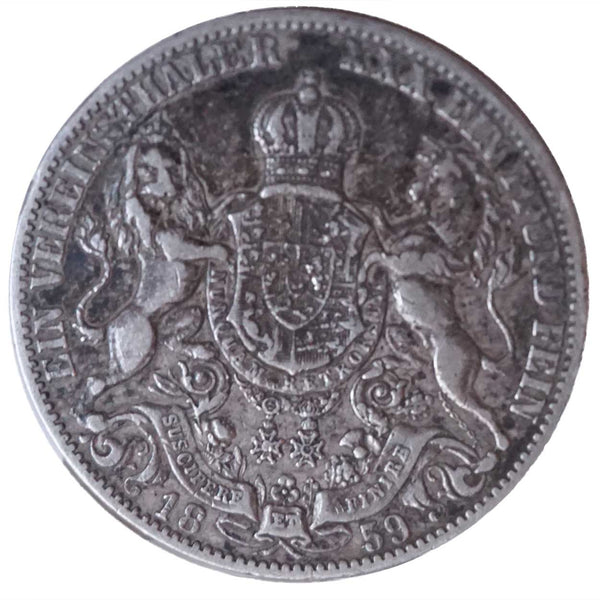 Rare German States Hannover 1859 B Proof Silver Thaler Coin