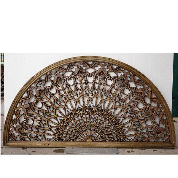 American Colorado National Bank Cast Bronze Arched Architectural Transom