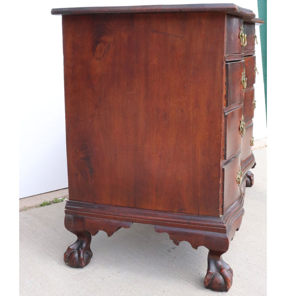 American Chippendale Mahogany Reverse Serpentine Chest of Drawers