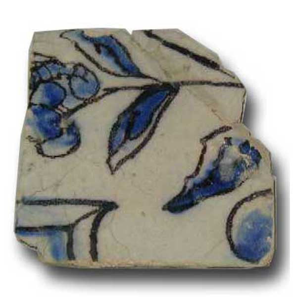 Portuguese Tin Glazed Ceramic Architectural Tile (Azulejo)