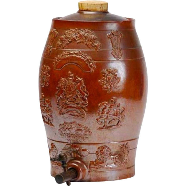 English Georgian Redware Pottery Cider Keg