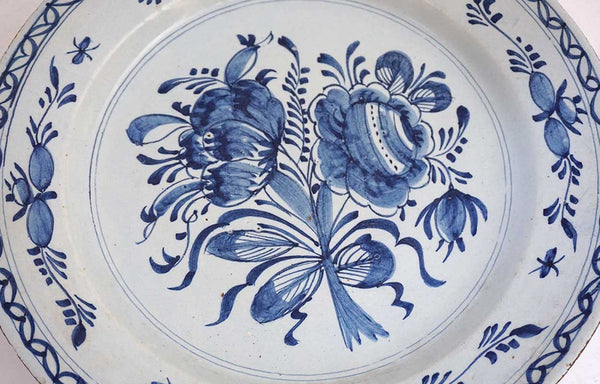 Dutch Delft Blue and White Faience Charger Plate