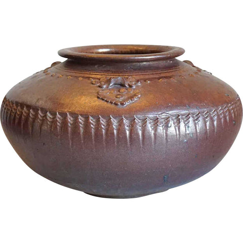 Chinese Brown Glazed Stoneware Pottery Vessel