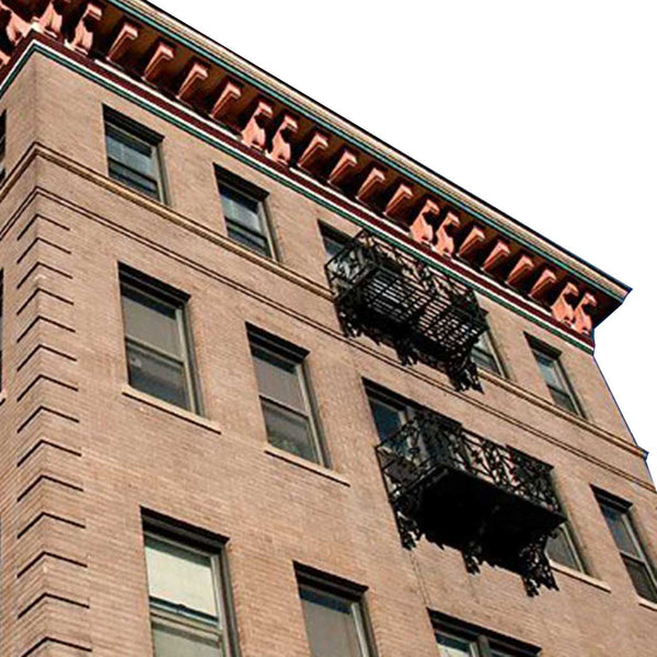 Complete American Beaux Arts Acacia Hotel Wrought Iron Balcony