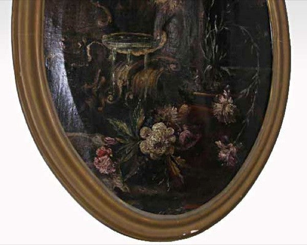 Italian School Baroque Style Oil on Canvas Floral Still Life