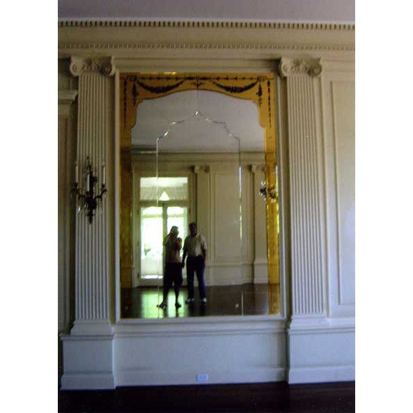 Grand American Renaissance Revival Paneled Built In Mirror