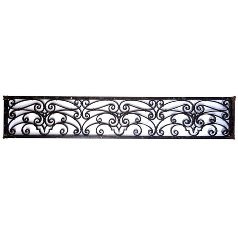 American Victorian Wrought Iron Hinged Rectangular Transom