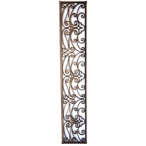 American Victorian Wrought Iron Hinged Transom Grille