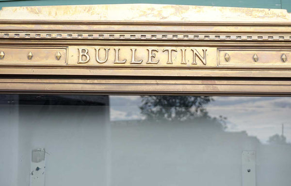 Rare Large American Classical Revival Bronze Pittsburgh Post Office Freestanding Bulletin Board