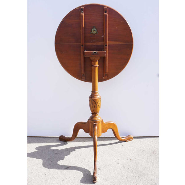 American Cherrywood Tilt-Top Candle Stand Round Side Table