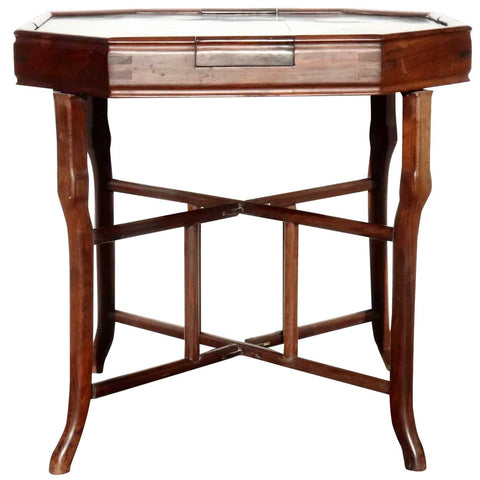Chinese Qing Rosewood Octagonal Mahjong Games Table