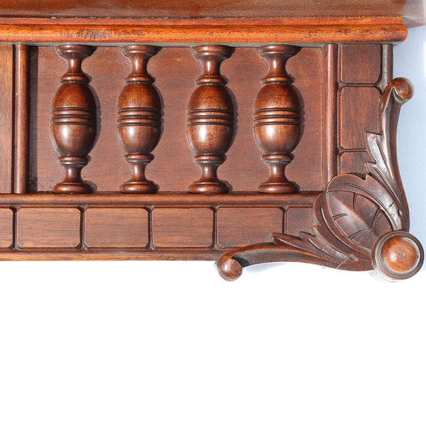 American Eastlake Walnut Bracket Wall Shelf