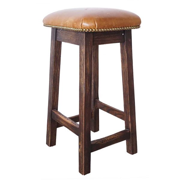 Home Styles Arts Crafts 24 In Counter Stool: English Arts And Crafts Style Oak And Leather Custom