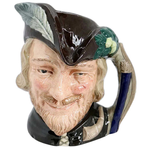 Large Vintage English Royal Doulton Porcelain Robin Hood D6527 Character Jug